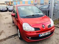 RENAULT GRAND MODUS 1.2 TCE DYNAMIQUE PETROL MANUAL HATCHBACK 5 DOORS RED 2008 95000 MILES