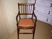 Victorian mahogany childs chair