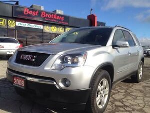 2008 GMC Acadia SLT1  SILVER IN RED