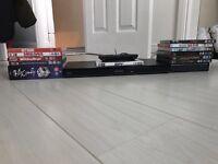 Panasonic Blu-ray player with selection of DVD's