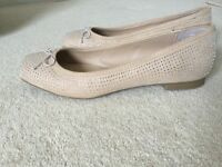 Size 5 tan ballet style shoes with sparkle effect