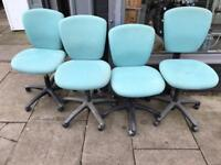 Blue Fabric Office Chairs £10 Each