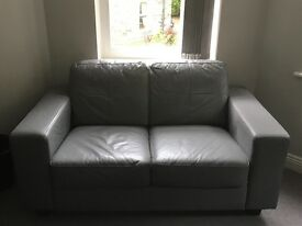 Sofas - Grey Leather (2 available)