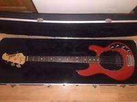 MUSIC MAN Stingray 3 Band EQ, 4 String Bass Guitar, with Hard Case