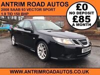 2008 SAAB 93 VECTOR SPORT 1.9 TID ** FINANCE AVAILABLE WITH NO DEPOSIT