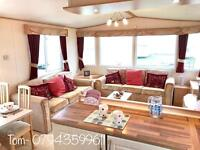 Double glazed central heated 3 bedroom static caravan sited on 12 month owners park