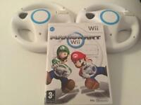 Mario Kart and 2 Official Wheels - Wii