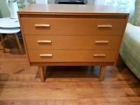 Vintage Retro Chest of Drawers 3 Drawers Dresser Sideboard Console