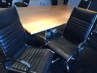 10 Faux Leather Conference Room Chairs.