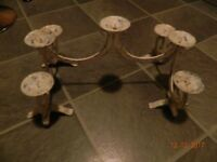 Wrought iron candle holder- holds 7 candles