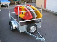 Canoe and kayak moving trailers