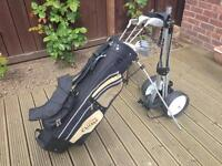 Ladies Chicago golf clubs, bag and trolley