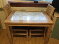 Kitchen table + 2 matching chairs VGC. Cove