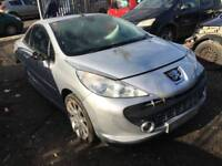 PEUGEOT 207 GT CC 1.6 DAMAGED SALVAGE BREAKING SPARE PARTS 2007-2012