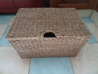 Lovely unused metal framed sturdy woven basket