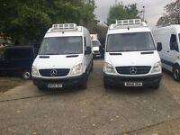 mercedes sprinter fridge van.58 reg.choice of 2 vans.standby.air con.1 owner