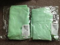 New 2 x mint green tab top voile panels