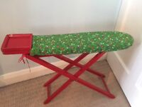 Vintage wooden toy ironing board