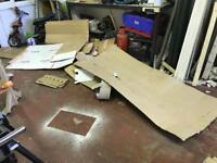 Cardboard sheets.