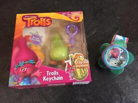 Trolls musical wrist band and key chain