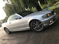 BMW Coupe 320 Convertible coupe SE Auto 2004,Low Miles,Service History,hpi Clear,Black Leathers£1995