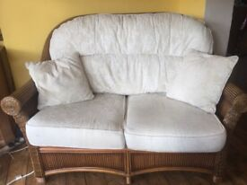 Cane Furniture Two Seater Sofa & Two Chairs
