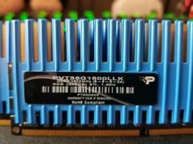 Patriot Viper 6gb (3x2gb) DDR3 PVT36G1600LLK