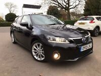 1 OWNER 2012 LEXUS CT 200H SE-L CVT AUTOMATIC HYBRID SATNAV £0 TAX 47500 MILES FINANCE £166 PR MONTH