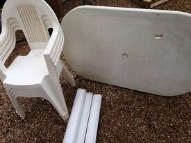 FREE! Garden table & chairs