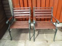 2 strong single garden chairs