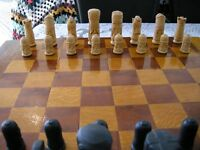Chess Set with board and wooden box