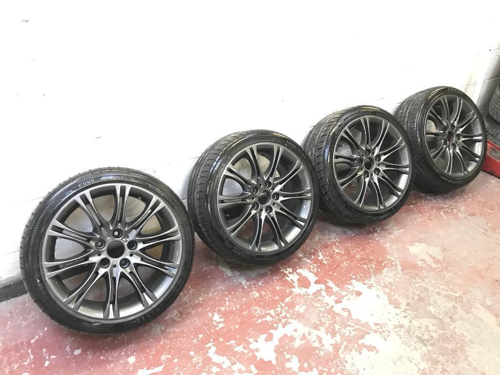 "Genuine BMW MV2's 18"" 5X120 Alloy Wheels Fresh Refurb PX Welcome"