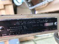 Mc Manis Table ser. no. 47653