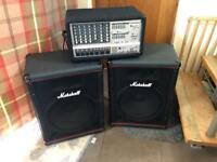 Reduced!!!! Professional Marshall Speakers and Phonic power pod system