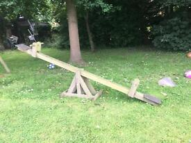 Wooden See-saw for Garden