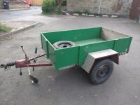 6ft x 3.5ft Car Trailer - Single Axle - Homemade