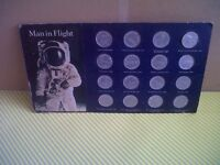 4SALE,A CARD,CONTAINING,A COMPLETE SET OF,SHELLS,MAN IN FLIGHT,COMMEMORATING COINS