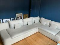 Large L Shaped Habitat Grey Sofa
