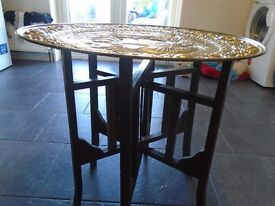 brass top coffee table