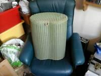 Lloyd loom laundry basket kidney shape