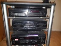 Pioneer music system and samsung dvd home cinema. Pioneer with 5 speakers and samsung 5 speakers