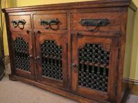 Multiyork solid Indian Rosewood / Sheesham 3 door Sideboard with drawers