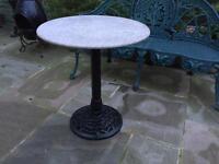 Cast iron table / bird table garden Planter