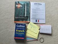 GCSE French Revision Book, Notes and Dictionary