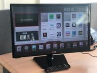 """LG 24"""" Smart WiFi Led tv freeview Youtube Netflix Excellent Condition"""