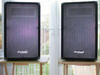 prosound 300 watt speakers and stands
