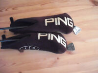 Lovely pair of Ping i3 fairway woods. No.s 3 (14 degree) & 7 (20 degree) with covers.