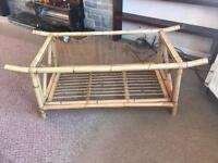 Rattan coffee table. Collection can either be from Carlton or Edingley, Notts