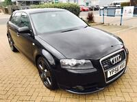 Audi A3 Tdi S-line QUATTRO,2ltr DIESEL, 187.7BHP,2006,F.S.History,LEATHER HEATED SEATS,CAMBELT DONE