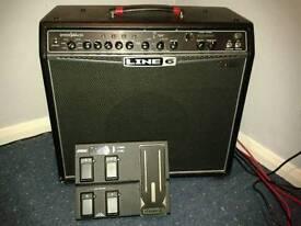 Line 6 Spider Valve 112 Mk1 modelling valve amplifier with FBV express pedal